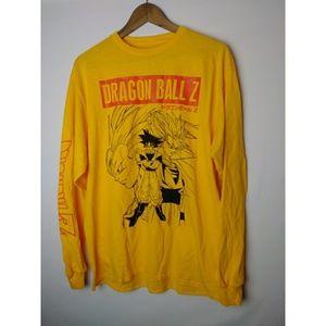 Dragon Ball Z Men's Goku Yellow LS T-Shirt NWOT